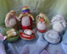 Seasonal Wool dolls  - Mothers with babes - New Zealand wool