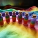 Six Rainbows in a bottle  - So cool - Party favor - Waldorf inspired