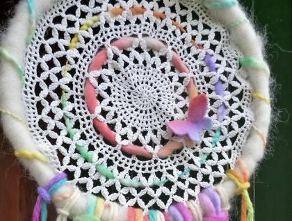 Wool lace mobile-dream catcher - Waldorf -  Lovely birthday gift