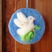 NZ  Wool peace dove   NZ wool needle felted wool wall hanging - lovely gift
