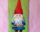 New Zealand wool gnome wall hanging - Fantasy forest gnome - nice natural  gift for a boy  - Waldorf Eco friendly