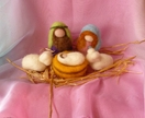 New Zealand   Wool needle  felted   -     Nativity Scene  - Waldorf inspired