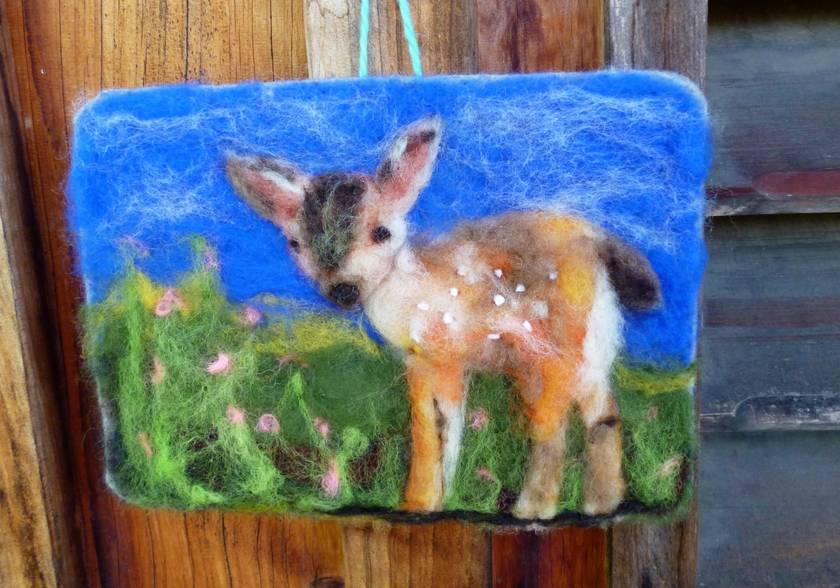 Baby wool bambi - New Zealand wool  - Lovely nursery gift