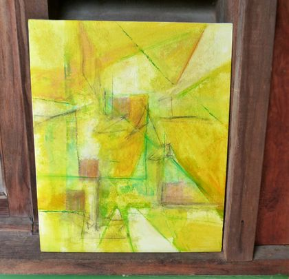 Acyrlic painting abstract - New Zealand art - dry conditions in a New Zealand Summer