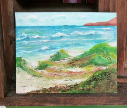 Seascape painting - the sea and beach - Original