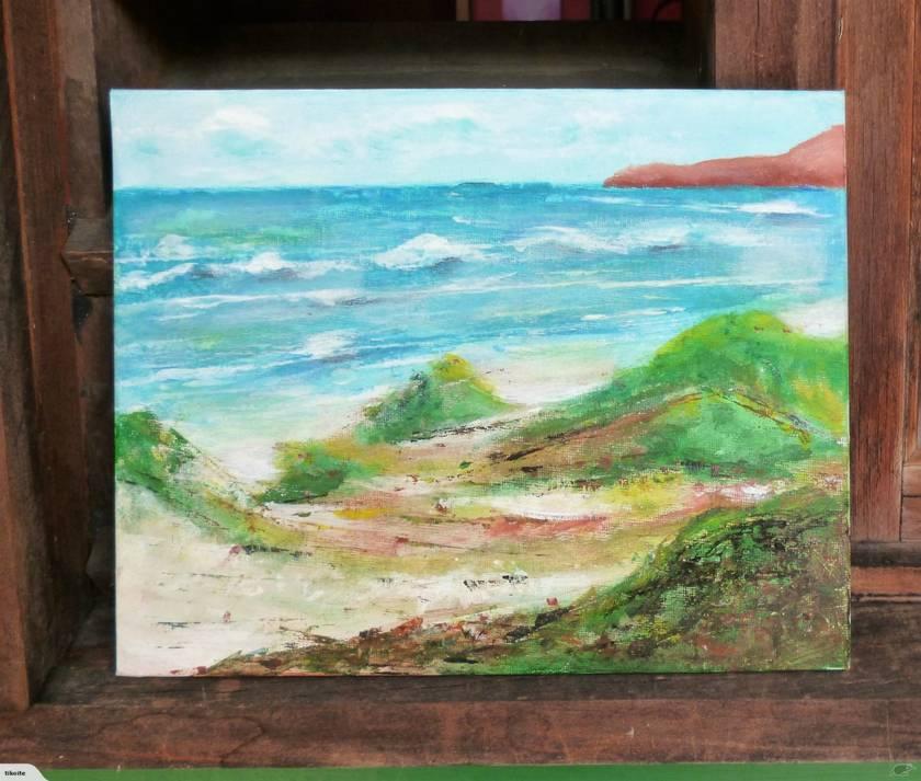 Seascape painting - the sea and beach - Original