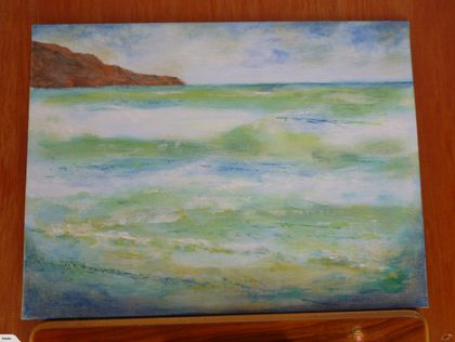 New Zealand beach scene - acrylic painting