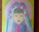 Spring /Summer lady portrait - acrylic painting - original art work