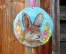 New Zealand  wool rabbit - Easter - fun - decor - Hare -