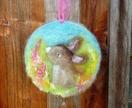 New Zealand  wool rabbit - Easter - fun - decor - Hare -
