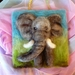 New Zealand  wool elephant  - sheeps wool - wool art piece  - Natural gift  - needle felted