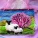 Spring wool picture  New Zealand sheeps wool - decor - nature table - Spring - blossom