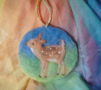A sweet little wool fawn-  inspired - nice gift - New Zealand wool