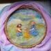 Children dancing - Waldorf inspired wool art  - Perfect nursery or childrens decor