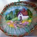Rustic wreath - Wool felted cottage garden  - Wall hanging - nice decor