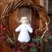 Angel Christmas wreath - Waldorf inspired angel