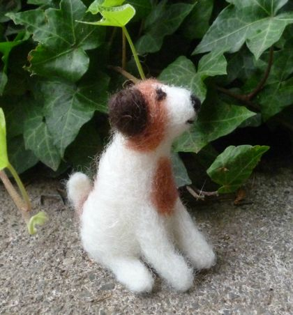 Wool dog - NZ wool - Needle felted