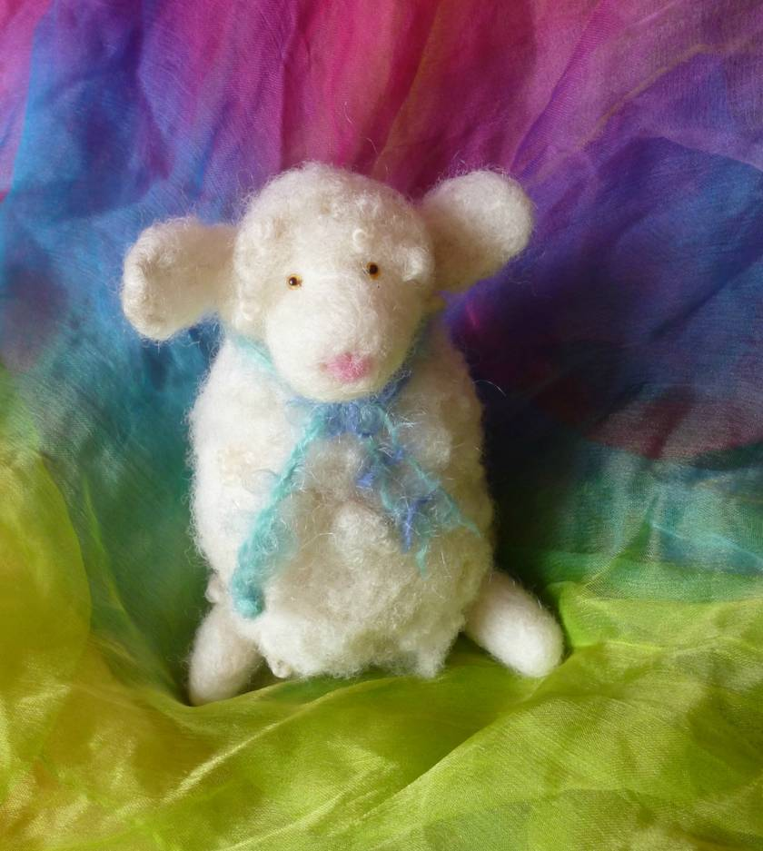 Wool sheep - New Zealand wool - Needle felted
