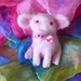 Wool pink pig  - Needle felted New Zealand wool - Nursey decor  - pig