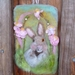 Hare -  rabbit - NZ wool - Needle felted  - Spring  - blossom