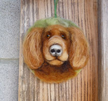 Wool dog - NZ wool - Needle felted - dog lovers gift