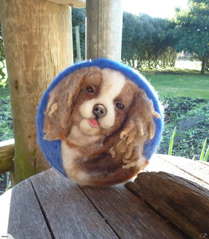 Wool dog - NZ wool - Needle felted - dog lovers gift - A one of a kind