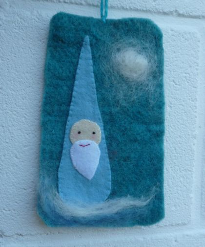 Gnome - wool - Winter gnome - Waldorf inspired