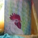 Chicken  rooster painting - Acyrlic on canvas board - NZ homesteading - rural  NZ life
