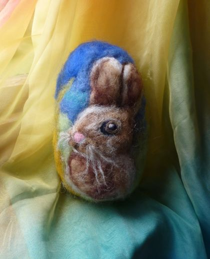 Large wool Easter egg - Rabbit - New Zealand wool