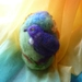 Large wool  egg - Tui and Kowhai flowers  - New Zealand wool - Needle felted  - Easter gift