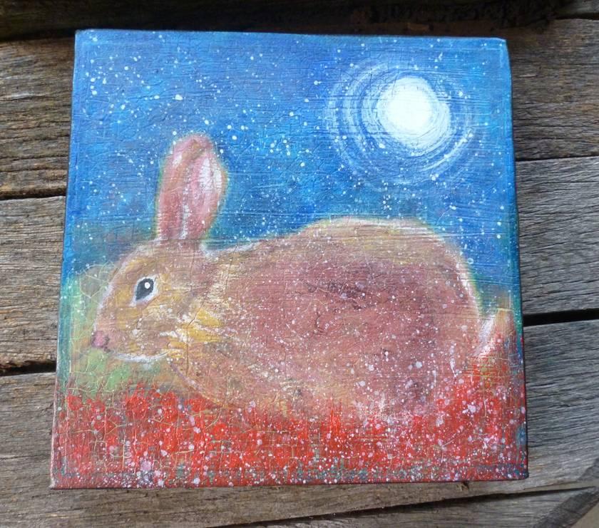 Rabbit painting - Acrylic on canvas