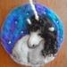 Unicorn fantasy wool picture - neelde felted in New zealand wool - Nursery gift