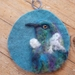 Tui wool bird picture - Needle felted in New Zealand wool