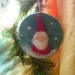 Christmas tree Santa wool decoration - Waldorf inspired - Hand dyed background