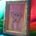 Dog painting in frame - Acrylic  painting
