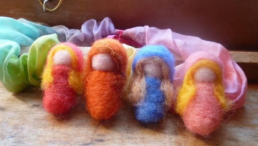 Wool seasonal  Children  -   Summer, Autumn, Winter ,Spring  - Waldorf inspired