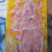 Easter rabbit - Nice  child's gift - Hand painted - Paint and inks