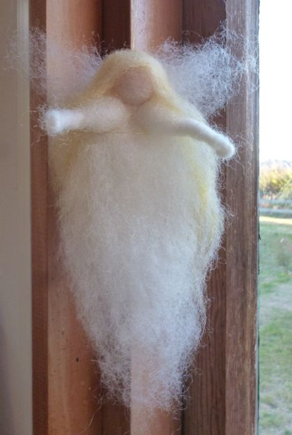 ONE NZ wool needle felted fairy /angel-  Waldorf inspired - Christmas/ Birthday  gift or all year round