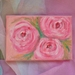 Rose painting on canvas - Original -12x12 cm - lovely sweet gift