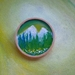 Hand painted wooden brooch - lovely gift