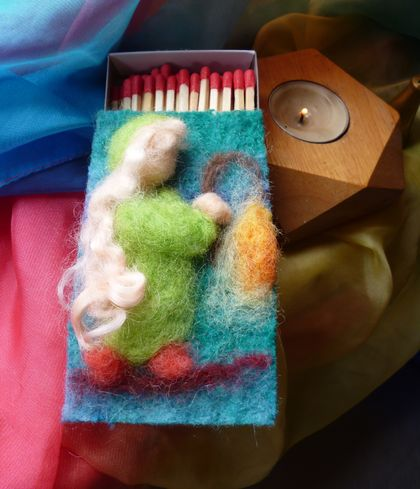 Matchbox felted cover - Lovely gift for the person who has everything