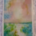 Abstract landscape original painting on paper - New Zealand artist - Marie Pickering