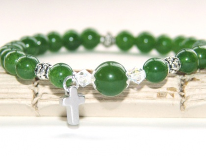 Greenstone Faith Bracelet - Stretch Pathway Bracelet