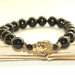 Black Jade Buddha Bracelet - Serenity & Balance - Men or Women