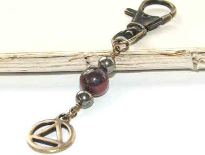 12 Step Recovery Key Ring or Bag Clip