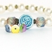 Om Bracelet, Cream Swarovski Pearls - Stretch Yoga Bracelet