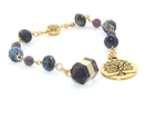 Meditation & Prayer Beads, Amethyst & Sodalite Gemstone Beads, Tree of Life Pendant