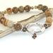 Faith Bracelet, Jasper Beads & Tiny Cross - Faith, Hope & Love