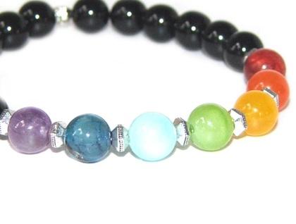 7 Chakra Bracelet, Stretch Yoga Bracelet