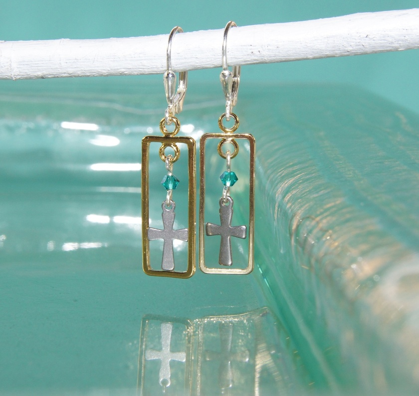 Cross Earrings, Original Christian Jewellery